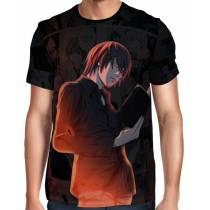 Camisa Full Print Death Note - Light Yagami
