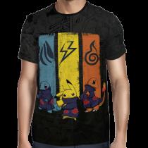 Camisa Full Print Pokemon - Akatsuki Exclusiva