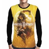 Camisa Manga Longa Scorpion - Mortal Kombat 11