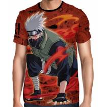 Camisa Full Print Color Mangá Red - Kakashi Hatake - Naruto