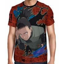 Camisa Full Print Color Mangá Exclusiva - Shikamaru - Naruto