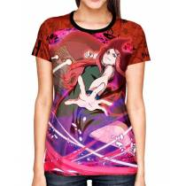 Camisa Full Print Color Mangá Exclusiva - Kushina - Naruto
