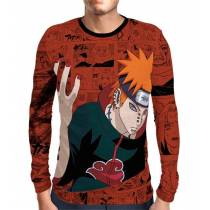 Camisa Manga Longa Naruto - Exclusiva Pain - Full Print