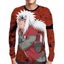 Camisa Manga Longa Naruto - Exclusiva Jiraya - Full Print