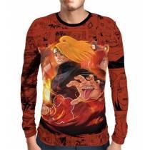 Camisa Manga Longa Naruto - Deidara e Sasori - Full Print