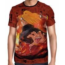 Camisa Full Print Color Mangá Exclusiva - Deidara e Sasori - Naruto