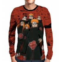 Camisa Manga Longa Naruto - Pain Six Paths - Full Print