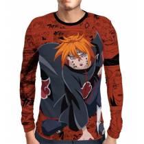 Camisa Manga Longa Naruto - Pain Ajisai - Full Print