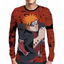 Camisa Manga Longa Naruto - Pain - Full Print