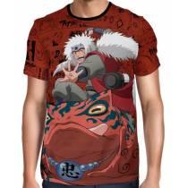 Camisa Full Print Color Mangá - Jiraya Ero Sennin - Naruto