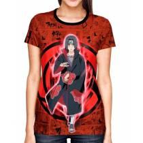 Camisa Full Print Color Mangá - Uchiha Itachi Mangekyou  - Naruto