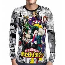 Camisa Manga Longa PRINT New Mangá Boku No Hero Academia