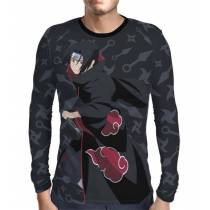 Camisa Manga Longa Naruto - Uchiha Itachi Modelo 4 - Color Dark Print