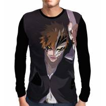 Camisa Manga Longa Smile Ichigo Hollow - Bleach