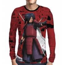 Camisa Manga Longa Naruto Premium - Uchiha Madara - Full Print