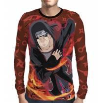 Camisa Manga Longa Naruto - Red Itachi Akatsuki - Print