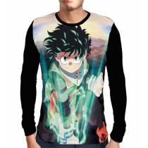 Camisa Manga Longa Powers Deku - Midoriya - Boku No Hero Academia