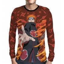 Camisa Manga Longa Naruto - Red Pain Akatsuki - Print