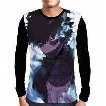Camisa Manga Longa Dabi - Boku No Hero Academia