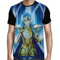 Camisa FULL Camus de Aquário - Saint Seiya - Cavaleiros do Zodiaco