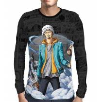 Camisa Manga Longa Dark Mangá Law - One Piece - Print