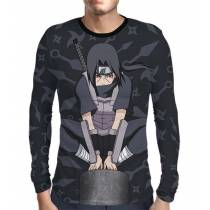 Camisa Manga Longa Naruto - Uchiha Itachi Modelo 1 - Color Dark Print