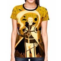 Camisa Full Print Color Mangá Premium - Naruto Chakra Mode - Naruto