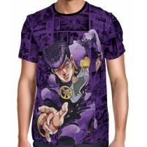 Camisa Manga Longa Print Purple Mangá Josuke Higashikata - Jojo's Bizarre Adventure
