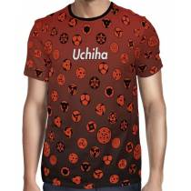 Camisa FULL Print Red Uchiha Sharingans - Naruto