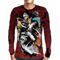 Camisa Manga - Bleach Espadas - Estampa Total