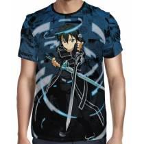 Camisa Premium - Sword Art Online Kirito Blue Full Print