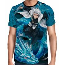 Camisa Full Color Print Blue - Hitsugaya - Bleach