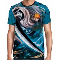Camisa Full Color Print Blue - Bleach - Ichigo Modelo 2