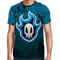 Camisa Full Color Print Blue - Shinigami Symbol - Bleach