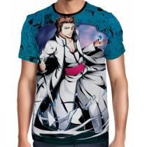 Camisa Full Color Print Blue - Bleach - Sōsuke Aizen