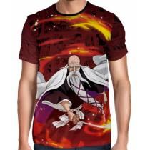 Camisa Full Color Print Red  - Bleach - Yamamoto