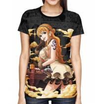 Camisa Dark Mangá Nami - One Piece - Full Print