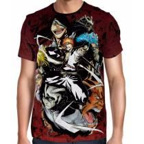Camisa Mangá - Bleach Espadas - Camisa Full Print