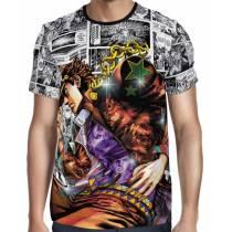 Camisa Full Print Mangá Pose Jotaro - Jojo's Bizarre Adventure