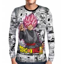 Camisa Manga Longa Rose Black Goku - Dragon Ball