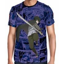 Camisa FULL Print Purple Mangá Sasuke - Naruto - Boruto