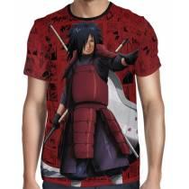 Camisa Color Mangá Premium - Uchiha Madara - Naruto - Full Print