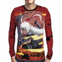 Camisa Manga Longa Naruto - Red Jiraya - Print