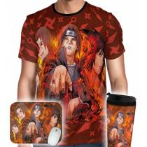 Kit Camisa Copo Mousepad - UCHIHA'S LEGENDS