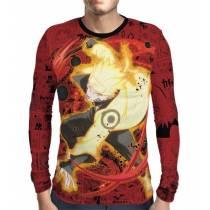 Camisa Manga Longa Naruto - Red Naruto Sage Mode - Print