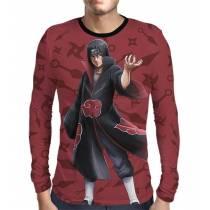 Camisa Manga Longa Color Print Naruto - Itachi