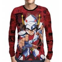 Camisa Manga Longa Seiya de Pegasus  - Cavaleiros do Zodiaco