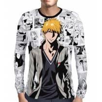 Camisa Manga Longa Print - Bleach - Mangá Bad Ichigo