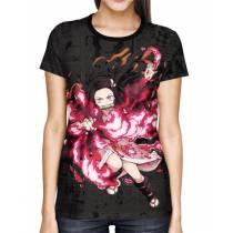 Camisa Full PRINT Mangá Kimetsu no Yaiba - Nezuko Exclusiva