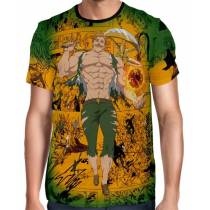 Camisa Full Print Green Mangá Escanor - Nanatsu no Taizai
